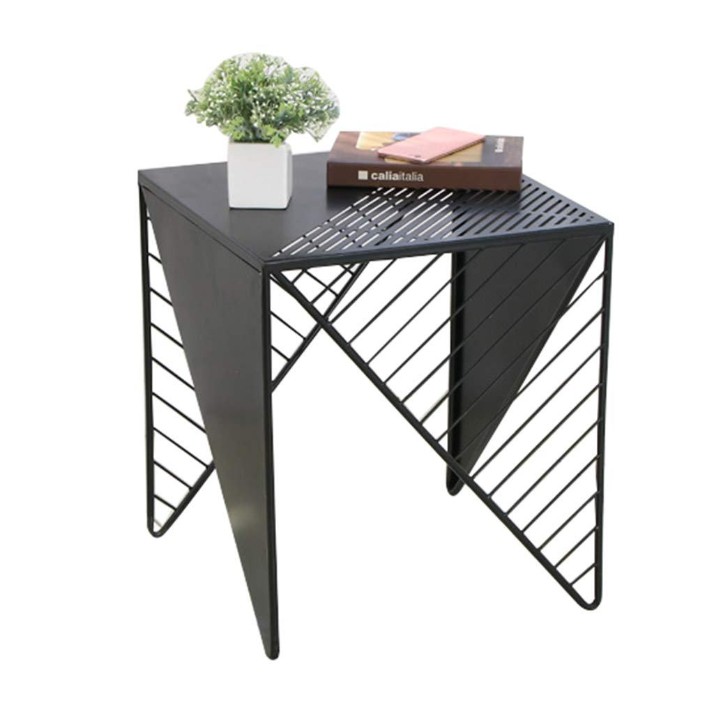 4 B Creative Square Wrought Iron Coffee Table, Living Room Bedroom Bedside Table - Nordic Minimalist Sofa Table - Home Decor Rack