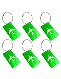 Metal Luggage Tags Green Baggage Suitcases Travel Labels Plane Shape