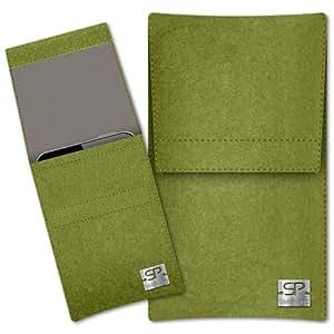 SIMON PIKE Cáscara Funda de móvil Sidney 7 verde Prestigio MultiPhone 7600 DUO Fieltro de lana