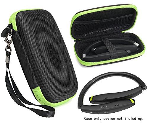Wireless Foldable Neckband Bluetooth Headphones Case for NEXGADGET, SMARTOMI Hap-2, EGRD, HOBEST, MOCHE, Fetta, dostyle, Senbowe, Levin,Dylan, pkman, Bestyoyo, Atc, VICTA, AVIVANT, souldio, Green zip