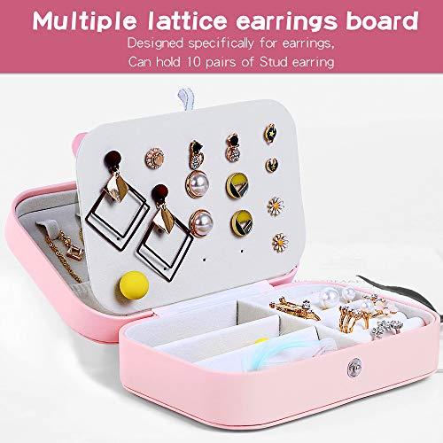 Jaciu Jewelry Box, Double Layer Jewelry Organizer for Necklace Earrings Ring Watch Bracelet Storage Jewelry Case for Women Girls Gift (Orange Pink) from Jaciu