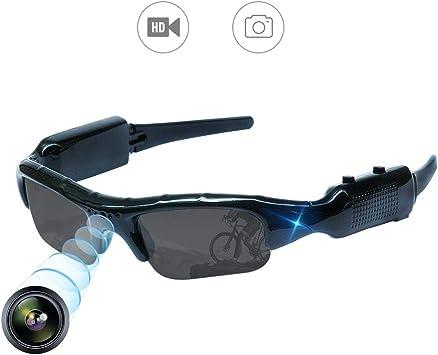 Opinión sobre YAOAWE - Gafas de sol ocultas para cámara de vídeo, grabación, deportes al aire libre, mini gafas de sol portátil, cámara de vigilancia para pesca, ciclismo, senderismo, mini gafas