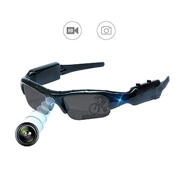 YAOAWE - Gafas de Sol Ocultas para cámara de vídeo, grabación, Deportes al Aire Libre, Mini Gafas de Sol portátil, cámara de vigilancia para Pesca, ...