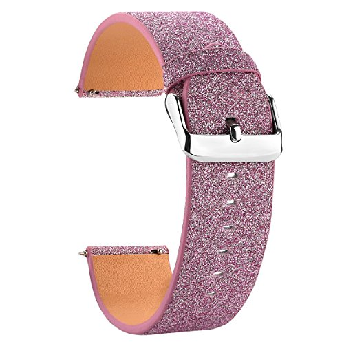 Moonooda for Fitbit Versa Band Glitter, Replacement Wristband Sparkle for Smartwatch Fitbit Versa,Women Elegant Strap for Fitbit Versa -Purple ()