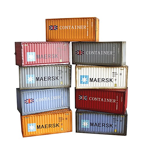 ClearUmm Metal Shipping Container HO Scale Model 40` Random Color