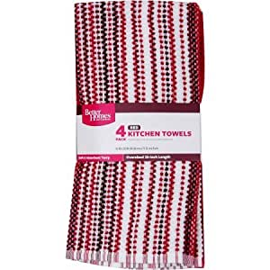 Better Homes And Gardens Kitchen Towels 4 Pack Red White Toys Games