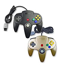Bowink Game gaming pad console Controller For N64 (Black and Gold)