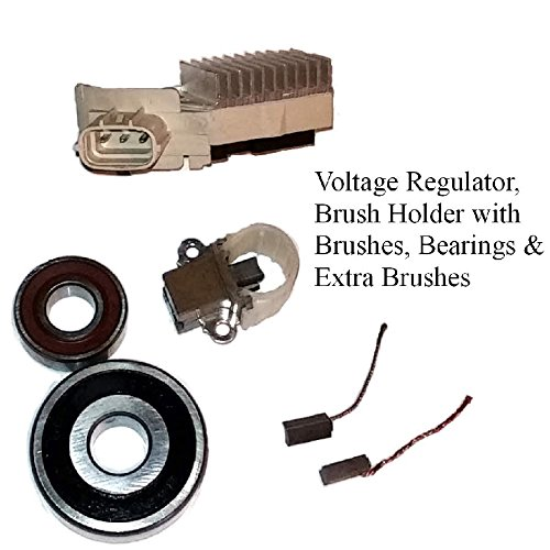 Alternator Rebuild Kit; Voltage Regulator, Brushes & Bearings 1999-2003 Lexus RX300, 2001-2003 Toyota Highlander 100 Amp - 13844RK Maniac EM