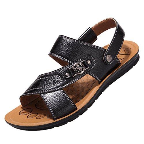 Nedons Mens Summer Skidproof Vintage Sandels Beach Sandals Black ekeqn