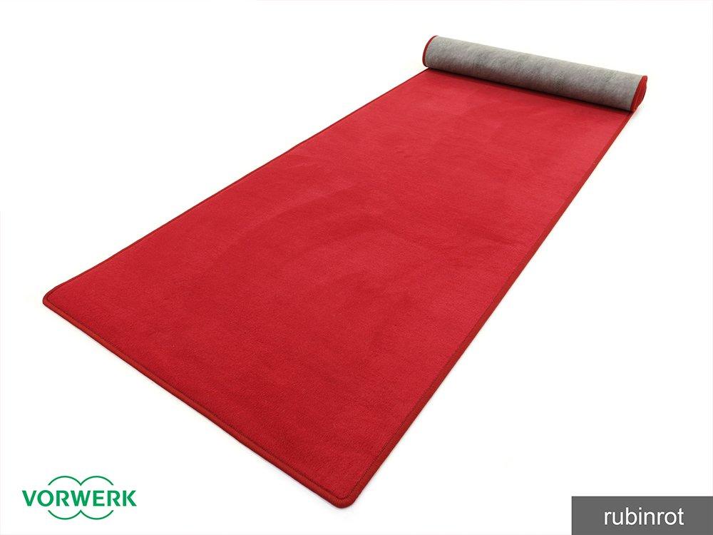 Bijou - Der Vorwerk Teppich Läufer von HEVO® in Rubinrot 100x800 cm