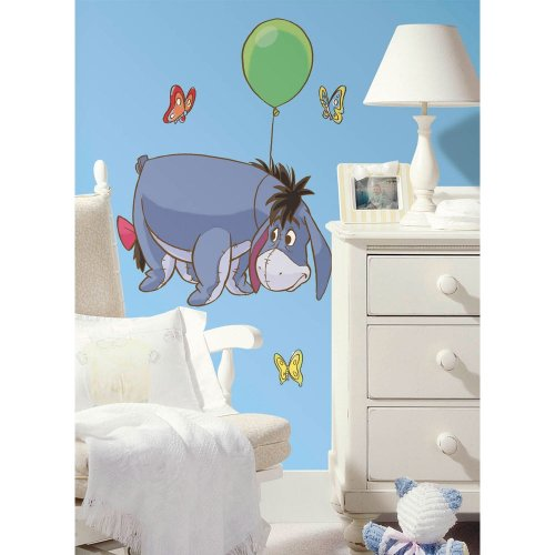 Roommates Rmk1503Gm Eeyore Peel And Stick Giant Wall Decal