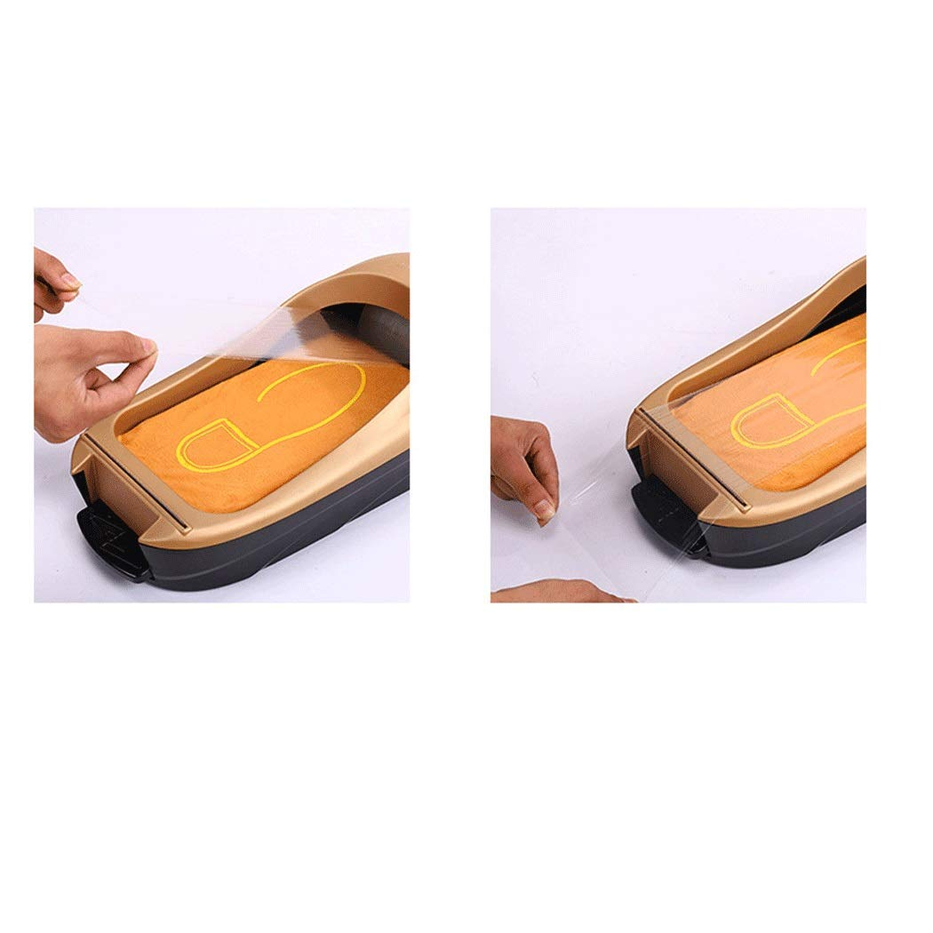 Image #6: Yongyong Golden Piano Paint Simple Wind Automatic Shoe Cover Machine Disposable Home Shoe Machine Office Foot Cover Machine Cover Shoe Machine (Including 600 Shoe Film) 60 28 17cm (Color : Gold) by Yongyong