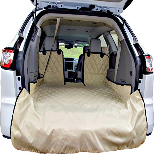 Plush Paws Refined Cargo Liner for Dogs - Tan, Waterproof & NonSlip Silicone Backing for Trucks & Suv's (Cargo Liner Standard)