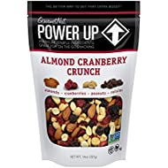 Power Up Trail Mix, Almond Cranberry Crunch Trail Mix, Non-GMO, Vegan, Gluten Free, No Artificial Ingredients, Gourmet Nut, 14 oz Bag