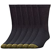 Gold Toe Mens 6-Pack Cotton Crew 656 Athletic Sock
