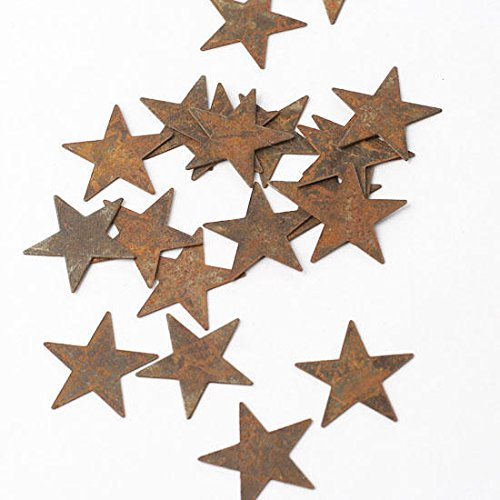 Bulk Package of 100 Primitive Rusty Tin Stars for Accenting, Crafting and Creating by Rustic Accents
