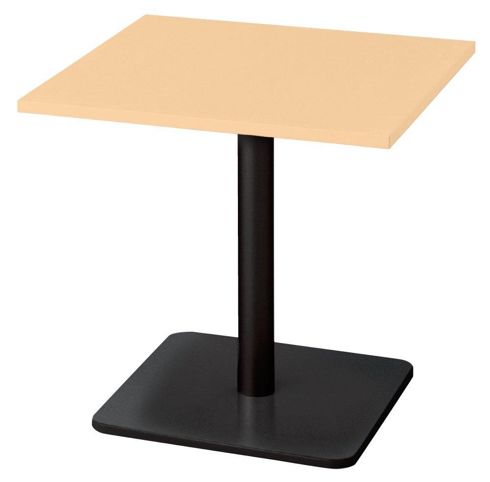 プラス ロンナ 会議テーブル 長方形 ベース脚 NN-1505BHR 天板ホワイトメープル/脚ブラック B073Q1C52D 長方形天板:ホワイトメープル 脚:ハイポジション 長方形天板:ホワイトメープル