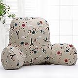 Kenmont Luxury Back Support Pillows Reading Bed Rest Pillow Plush Throw Lumbar Pillow Cushions (Eiffel Tower, Linen)