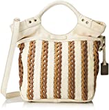 FRYE Tricia Weave Shopper Cross Body Bag, Off White, One Size