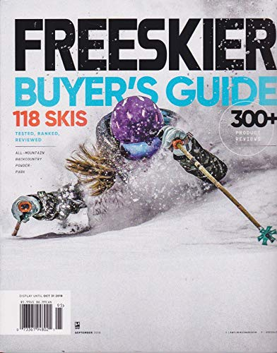 (FREESKIER, MAGAZINE OCTOBER 2018, BUYER'S GUIDE, 118 SKIS, 300 + PRODUCT REVIEWS)