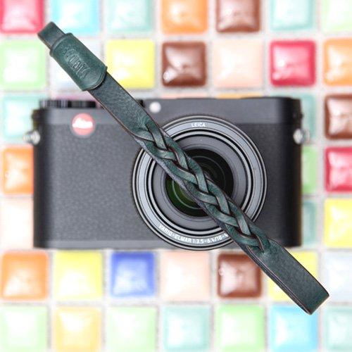 CIESTA Hand Made本革カメラ手首ストラップMano for Mirrorless RF Range Finder Leica Sony Fujifilm Olympus、css-hmw-05 Gianoダークグリーン   B00FU1VJYK