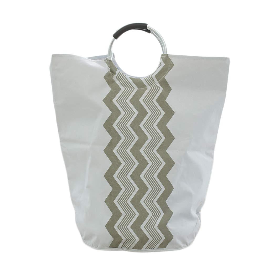 Lagerung FJH Wäschekorb Wasserdichte Oxford Tuch Schmutzige Hamper Haushalt Faltbare Ablagekorb Weiß, 40 * 63 cm