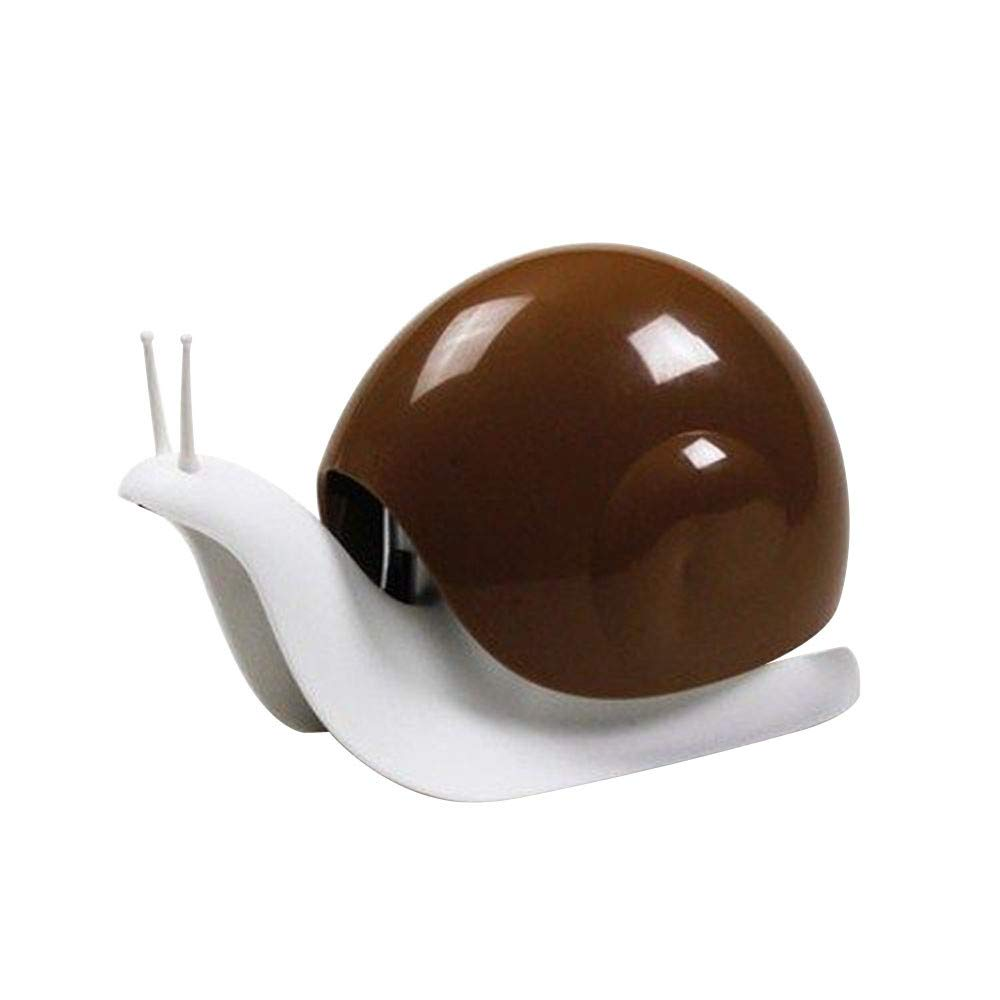 LiPing Cartoon Snail Push-Type Dispensers Liquid Disinfectant for Hands Lotion Bottle Storage for Kitchen Supplies Cleaning Utensils (Coffee)