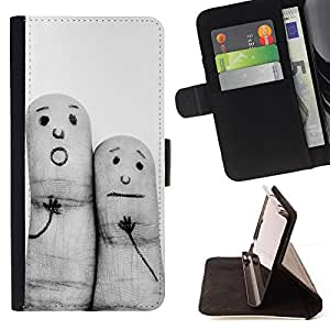 For Motorola Moto X 3rd / Moto X Style Funny Finger Paintings Style PU Leather Case Wallet Flip Stand Flap Closure Cover