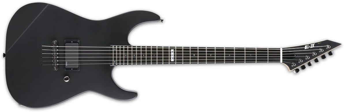 ESP E-II M-I THRU NT Electric Guitar with Case Black Satin