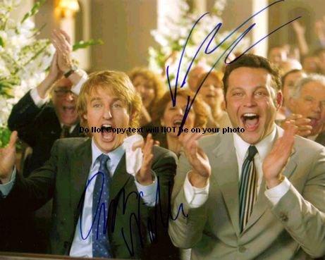 Vince Vaughn Wedding >> Vince Vaughn Owen Wilson Wedding Crashers Signed 11x14