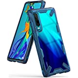Ringke Funda Huawei P30, [Fusion-X] Transparente Ergonómico Protector TPU Back Claro PC [Protección contra Caídas de Grado Militar] La Tecnología de Absorción de Golpes Cover - Space Blue Azul
