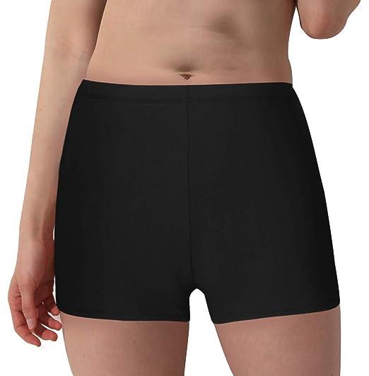 3518d5e2c39 Wantdo Women s Plus Size Swimsuit Bottom Boyleg Swim Shorts Beach Board  Short X-Large Black