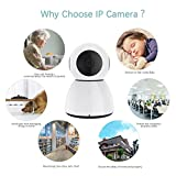 Wireless IP Camera Le Freshinsoft White Dome Camera 1080P HD WiFi Two-Way Audio Night Vision Baby Monitor Home Surveillance Camera Detection Support iOS , Android App - Cloud Service Available