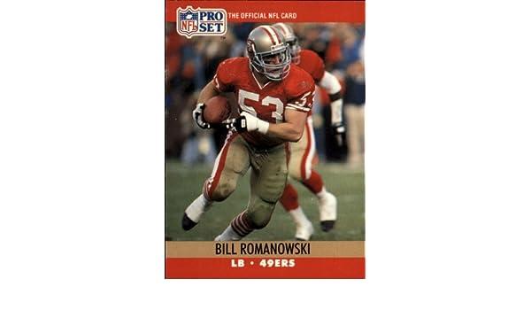 b898bac5903 Amazon.com  1990 Pro Set Football Rookie Card  642 Bill Romanowski Near  Mint Mint  Collectibles   Fine Art
