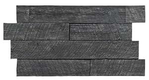 Texture Plus Indoor/Outdoor Siding Panel, Rustic Barn Wood, Gray - Interlocking