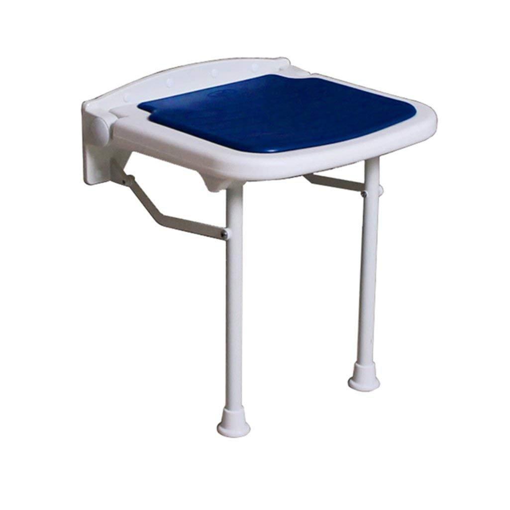 折り畳み式の壁はブルーマックスで美脚スツール付き高齢者/障害者滑り止めの椅子のためのスツールウォールマウントシャワーシートスツール折りたたみ変更の靴スツールシャワー。 250kg(3サイズ) (サイズ さいず : 45cm) B07F9ST1GH 45cm  45cm