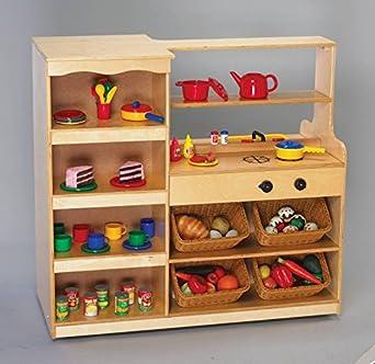 amazon com childcraft 075024 mobile island play kitchen 43 7 8 x rh amazon com