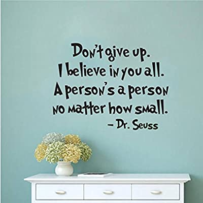 HACASO Dr Seuss Bedroom Quote Decors Wall Saying Decals Quote for Home Wall Stickers Nursery Room Decor (23): Home & Kitchen