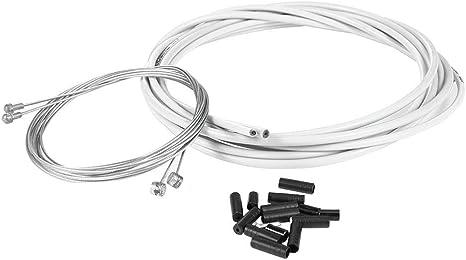 Demiawaking - Juego de Cables y Tapas para Bicicleta, Blanco ...