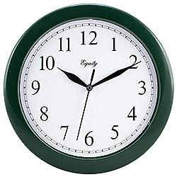 Equity by La Crosse 25205 10 Inch Hunter Green Wall Clock