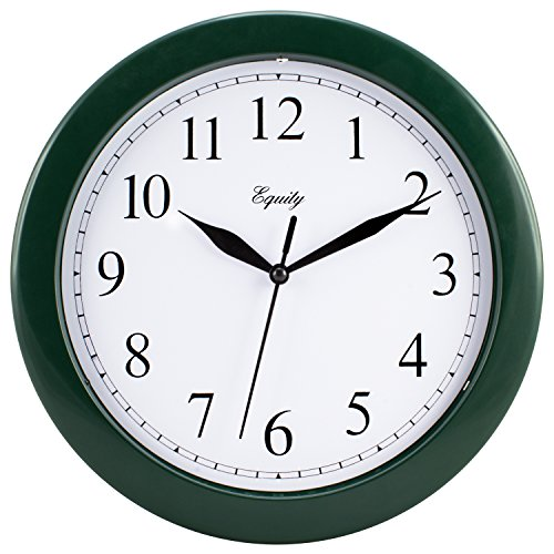 Equity by La Crosse 25205 10 Inch Hunter Green Wall Clock