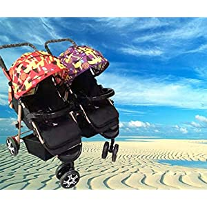 BabyTeddy® Baby Twin Stroller Detachable...