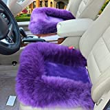 Universal Wool Soft Warm Fuzzy Auto Car Seat Covers Front Rear Cover Car Cushion Chair Pad (Purple)