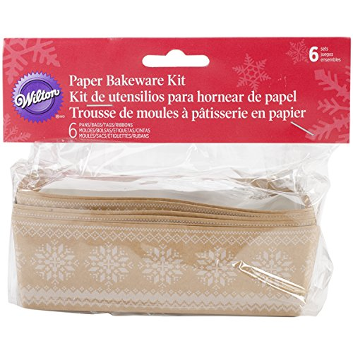 Wilton 1912-5087 6-Count Christmas Holiday Sweet Swap Mini Loaf Kit