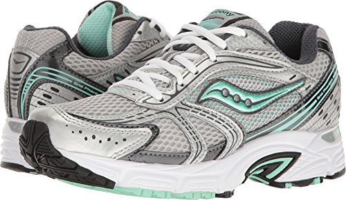 Saucony Women's Grid Phantom Silver/Grey/Mint 8.5 B US