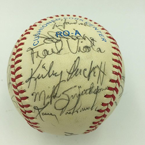 1984 Kirby Puckett Rookie Minnesota Twins Team Signed AL Baseball JSA COA (Kirby Puckett Minnesota Twins Baseball)