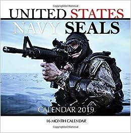 amazon united states navy seals calendar 2019 16 month calendar