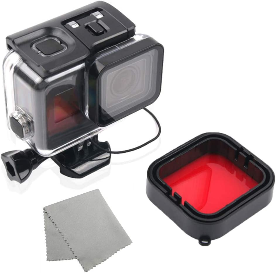 Yellow Diving Filter For Gopro Hero 5 6 7 Waterproof Protective Shell Camera Lens For GoPro Camera Red
