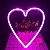 Neon Light,LED Heart Sign Shaped Decor Light,Wall Decor for Valentine's Day,Birthday Party,Kids Room, Living Room, Wedding Party Decor (Purple Pink)