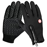 Winter Gloves, ONSON Touch Screen Gloves Black Gel Men & Women Gloves for Cycling, Running, Climbing and Winter Outdoor Sports- Windproof and Adjustable Size
